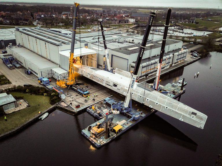 Royal Huisman keert 81 meter lange romp