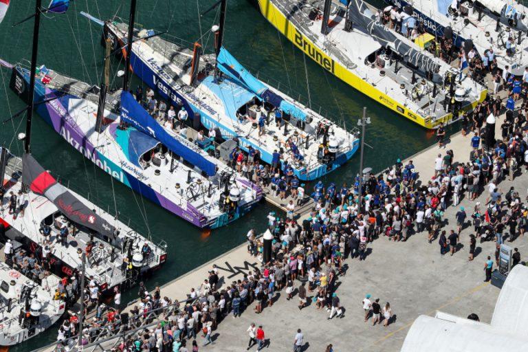Koning bezoekt de Volvo Ocean Race in Den Haag