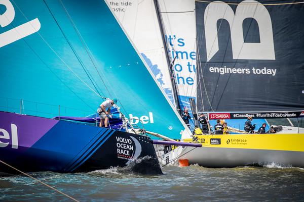 Volvo Ocean Race: Nederlandse zeilers strijden om eerste plaats