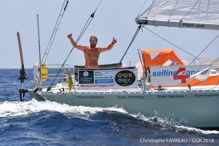 Golden Globe Race: Slats krijgt onverwacht bezoek op zee