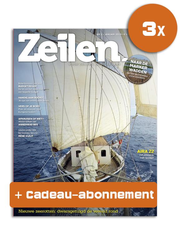 Cadeau-abonnement Zeilen 3 nummers voor 17,50 euro