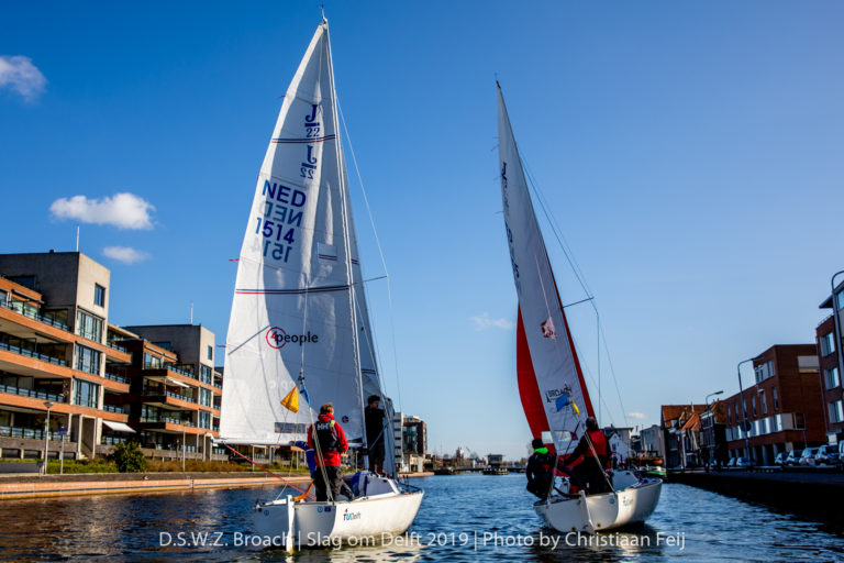 Zeilen in de gracht: Slag om Delft 2019