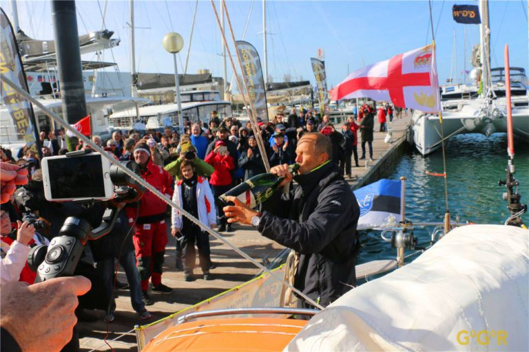 Uku Randmaa finisht de Golden Globe Race