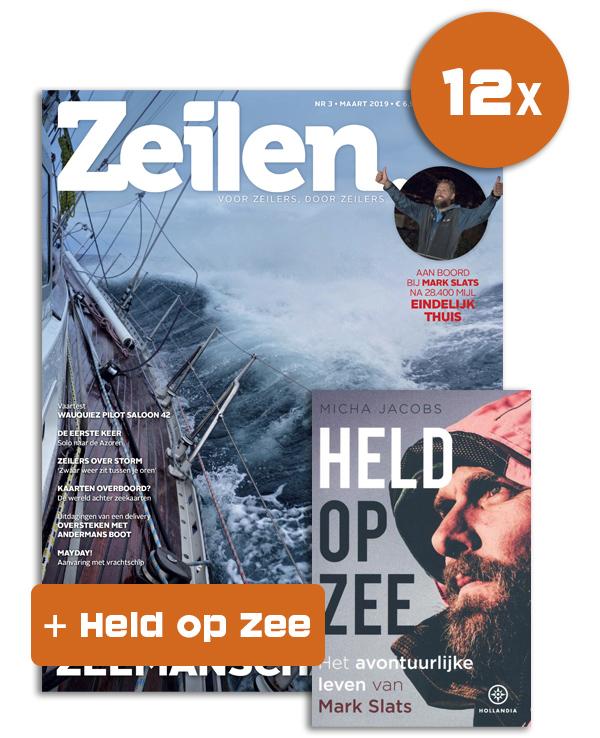 12x Zeilen + Boek Mark Slats Held op zee
