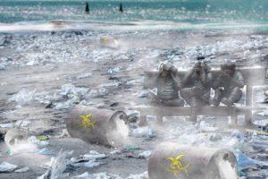 Walvis aangespoeld met maag vol plastic