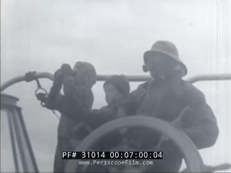 Historische beelden van overvaren Duitse zeilschip