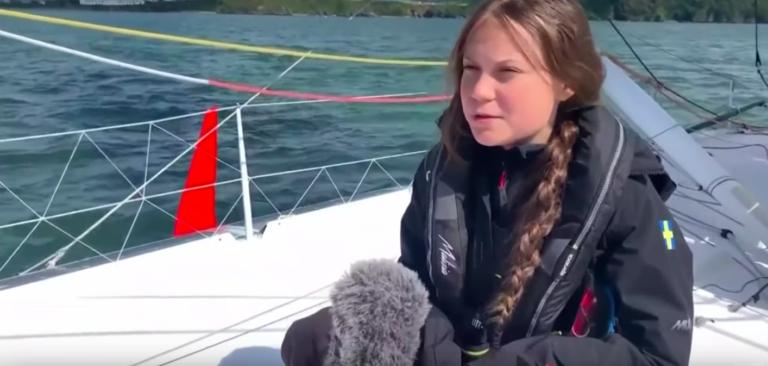 16-jarige klimaatactiviste zeilt mee met racejacht van Plymouth naar New York