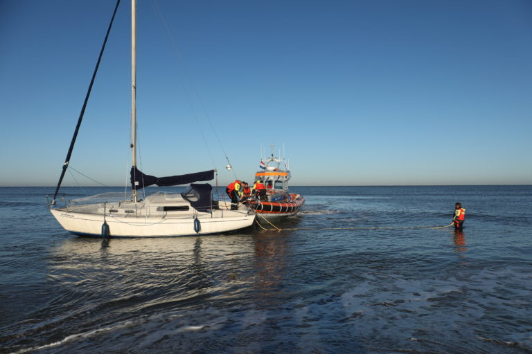 Onderzoek gestrande boot Noordwijk gesloten