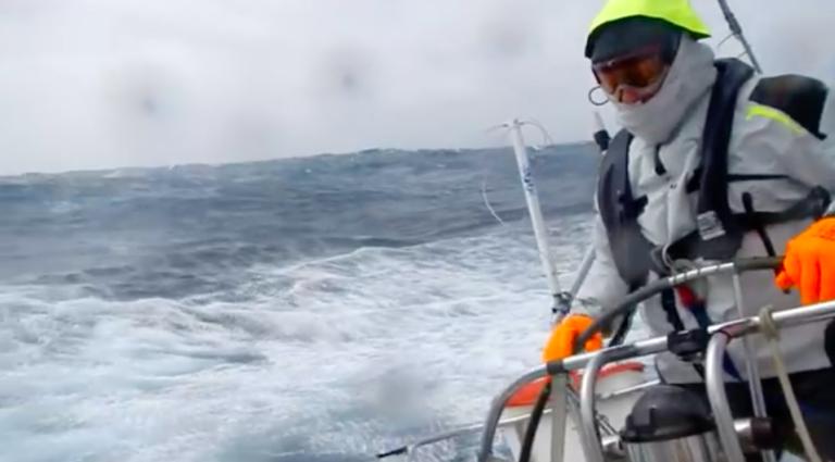 Video: zeilers trotseren storm nabij Kaap Hoorn