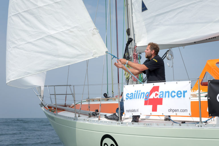Mark Slats behaalt streefbedrag voor Sailing4Cancer