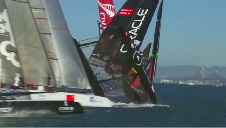 Video: snelheid, golven en crashes bij het wedstrijdzeilen