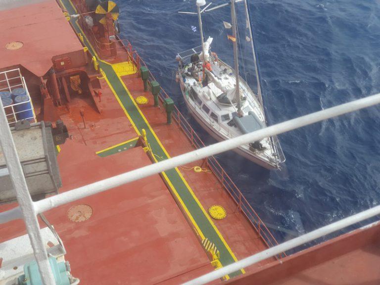 Bemanning van zeiljacht gehaald op Atlantic
