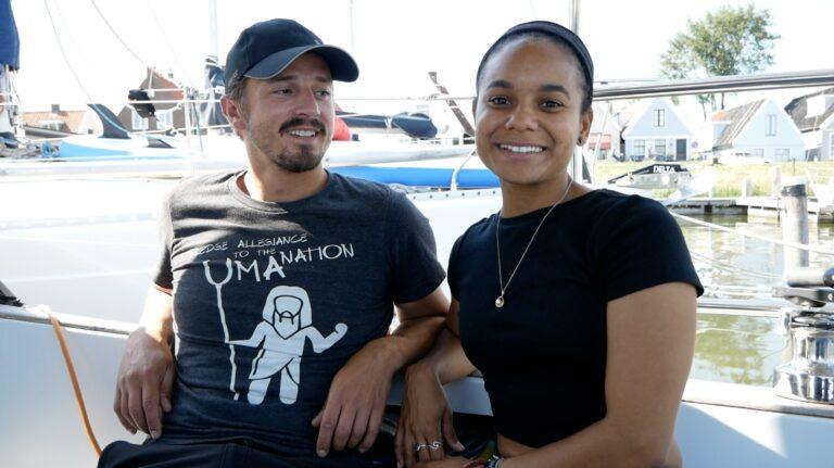 Biertje drinken met Dan en Kika van Sailing Uma