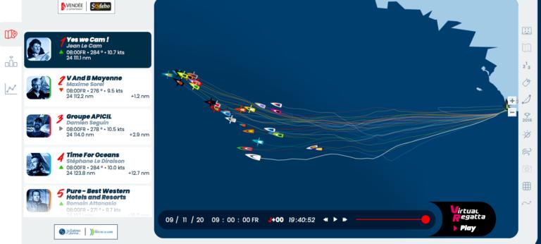 Vendée Globe: hier vind je de tracker en andere racestatistieken