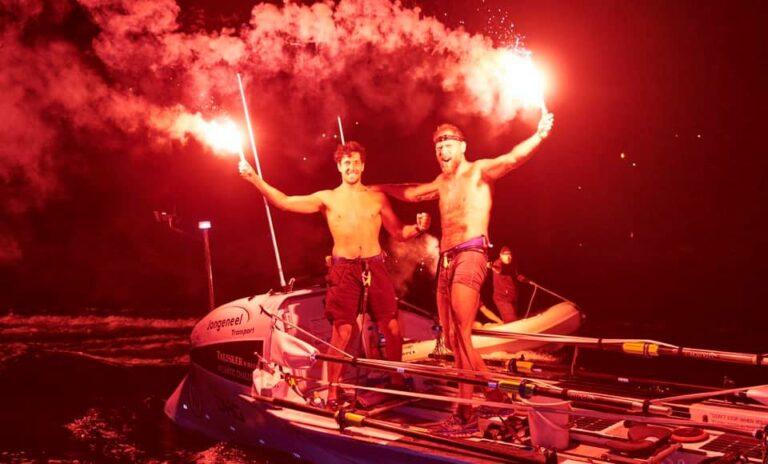 Mark Slats en Kai Wiedmer winnen roeiwedstrijd in recordtijd