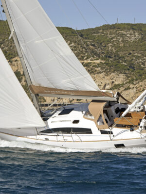 European Yacht of the Year 2019 Barcelona Trials 15 October 2019  Elan Impression 45.1