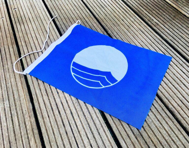 Hier staat het Blauwe Vaantje symbool voor