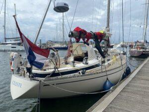 Celeste na een zware terugreis weer in IJmuiden